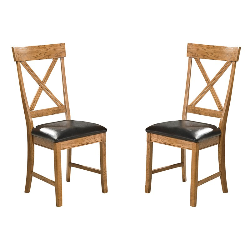 Imagio Home Intercon Family Dining X-Back Dining Side Chairs (Pack of 2), Brown
