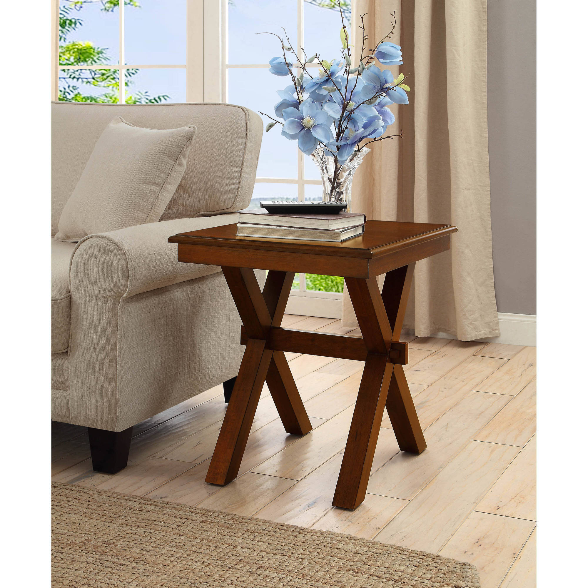 Better Homes & Gardens Maddox Crossing End Table, Cognac Finish