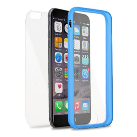 Insten Book TPU Case For Apple iPhone 6s Plus / 6 Plus - Clear/Blue - image 4 de 4