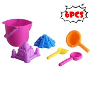matoen 6PCS Kids Beach Toys Set Molds Tools Sandbox Toys On Summer Beach Holiday