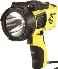 Waypoint Pistol Grip Spotlight With 12 Volt Dc Power Cord, Yellow, Uses 4 C-Cell Batteries by Streamlight, Inc.