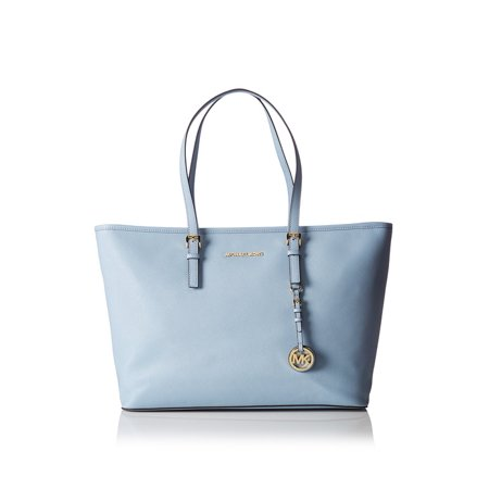 4bb98877f996 Michael Michael Kors Jet Set Travel Medium Saffiano Leather Top. Light Blue  Michael Kors Purse
