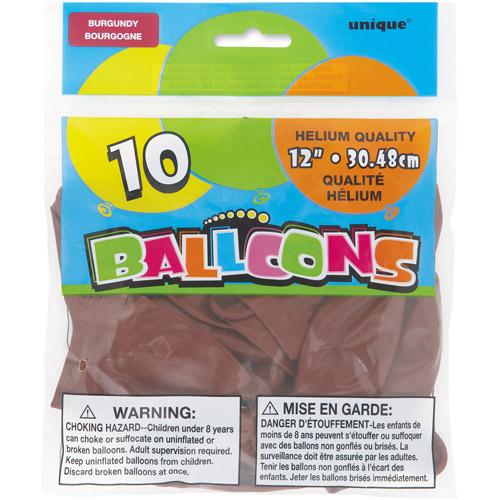 "12"" Burgundy Balloons, 10ct"
