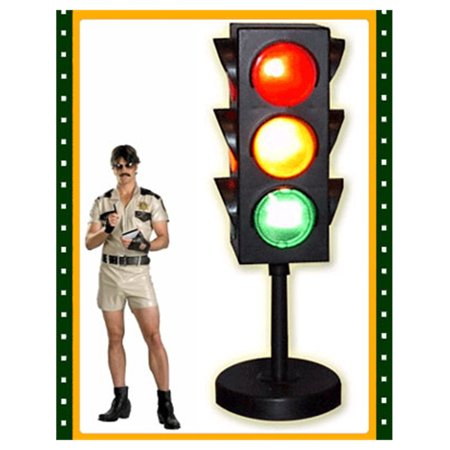- 10 Inch Replica Traffic Signal Stop Sign Light Lamp