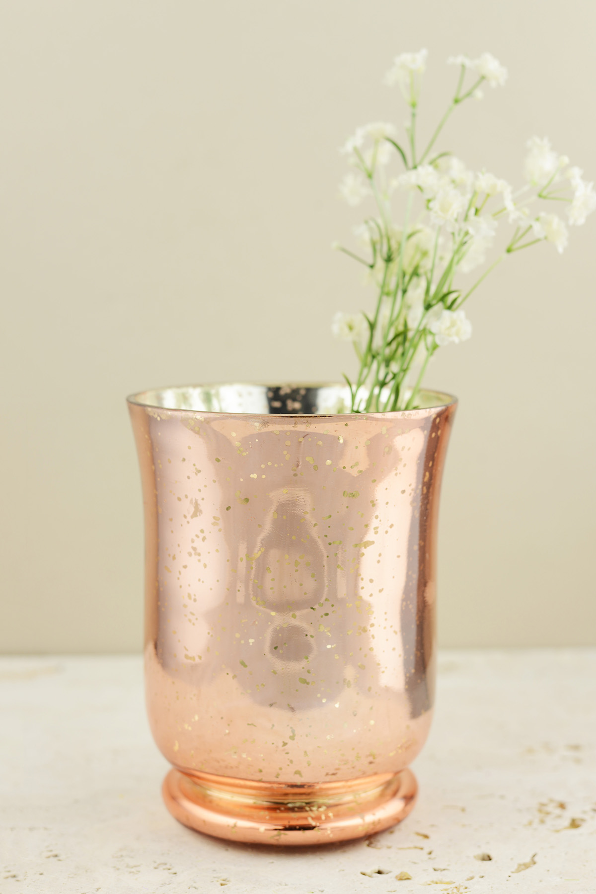 Blush Rose Gold Mercury Glass Vase & Candleholder 6 inch - Walmart.com