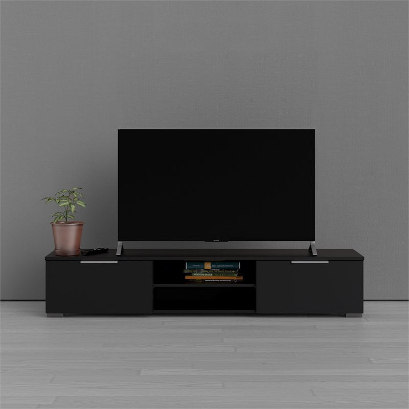 Tvilum Match 2 Drawer 2 Shelf TV Stand, Black Matte - Walmart.com