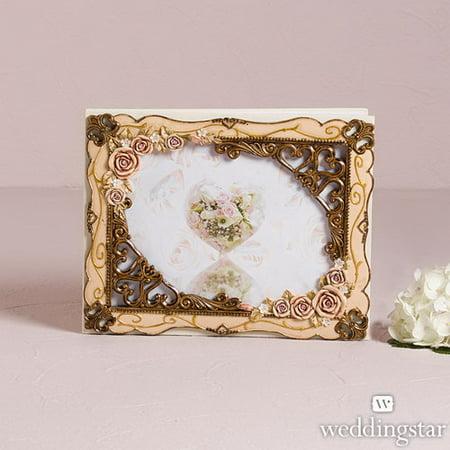 Weddingstar 9292 Elegant Vintage Rose Guest Book