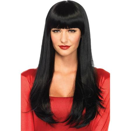 Leg Avenue Women's Long Wig, Black, One Size (Black Wig For Kids)