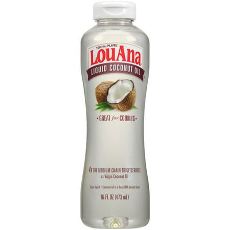 LouAna 100% Pure Liquid Coconut Oil, 16 fl oz