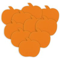 Paper Pumpkin Halloween Decorations, Orange, 5in, 10ct