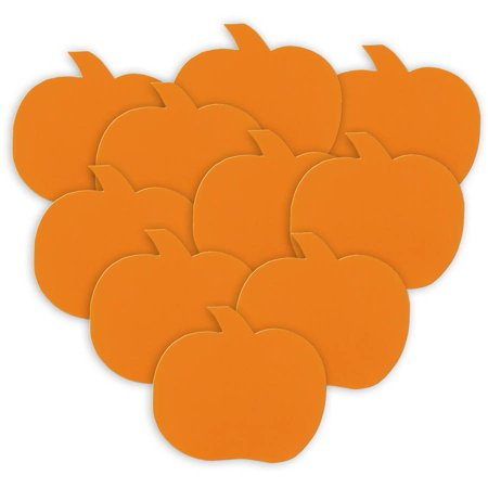 Halloween Orange Paper Pumpkin Decorations, 5in, 10ct - Construction Paper Halloween Decorations