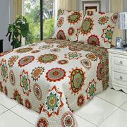 Retired Julia Fashion Floral Design Coverlet Set Oversized Lightweight Reversible Quilt Bedding Set : Full/Queen - Warm
