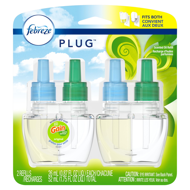Febreze Plug Air Freshener Refills with Gain Original ...
