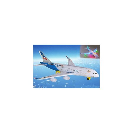 Toyze A380 Airplane Airbus Toy Model With Beautiful Attractive Flashing Lights And Loud Music  Bump And Go Action