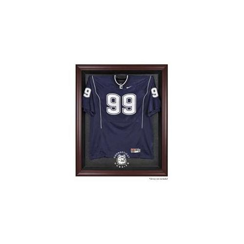 Mounted Memories MM-DISPJMUCON Connecticut Huskies Mahogany Framed Logo Jersey Display Case