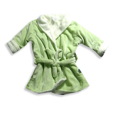 Girls Fleece Shawl Collar Robe - I Play - Baby Girls Fleece Robe Green / Infant / Small