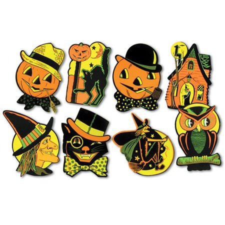 The Beistle Company 4 piece Halloween Standup Set (Set of 24)](Satan Birthday Halloween)