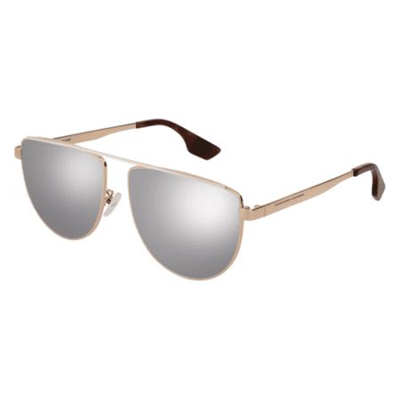 alexander mcqueen mq0093s 002 gold/amber aviator sunglasses - Lightning Mcqueen Sunglasses