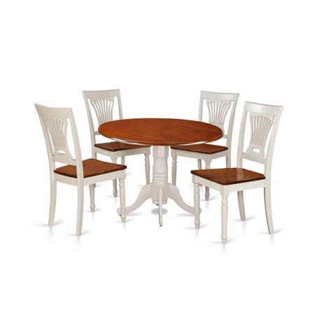 small dining set table 4 chairs buttermilk cherry 5 piece. Black Bedroom Furniture Sets. Home Design Ideas