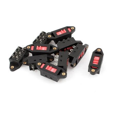 110V-220V 6 Pin Terminals DPDT Voltage Selector Slide Switch 10 - Dpdt Slide Switch
