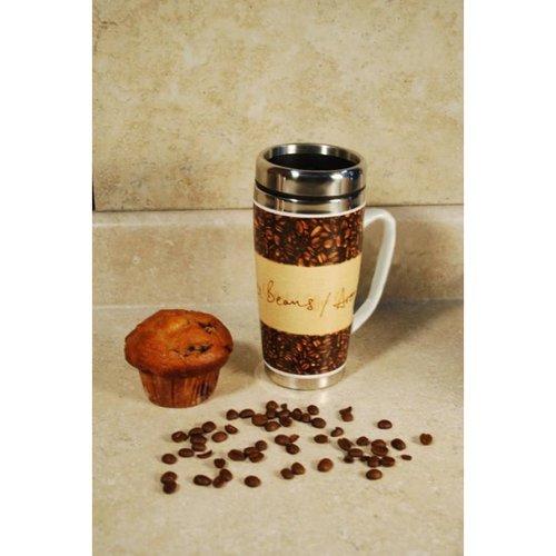 Cookpro 114A2 2Pk Ceramic Coffee Mugs 15Oz Steel Insert