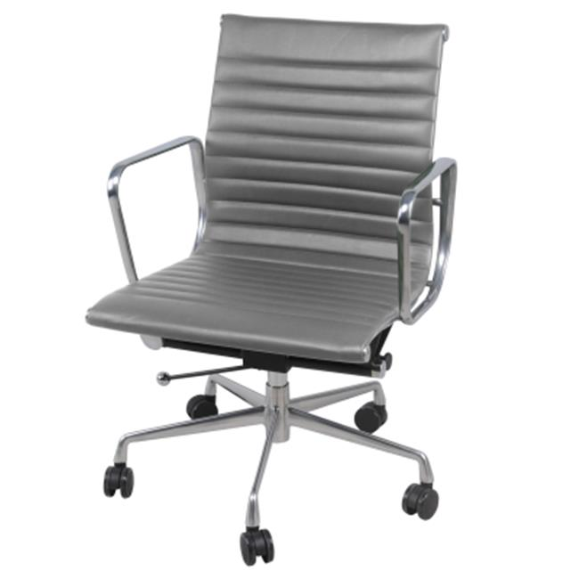 New Pacific Direct Langley Low-Back Office Chair, Vintage Smoke