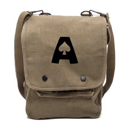 Ace of Spades Canvas Crossbody Travel Map Bag (Ace Travel Case)