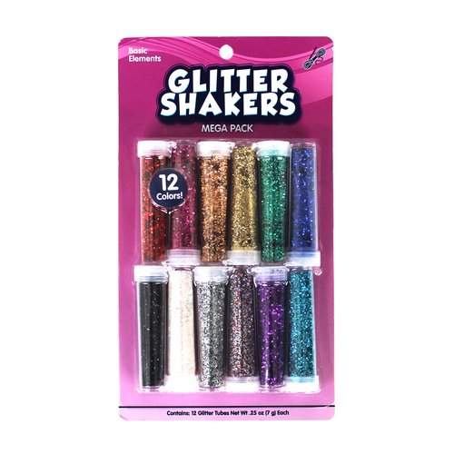 WM Kids Craft Glitter Shaker Tubes, 12pk