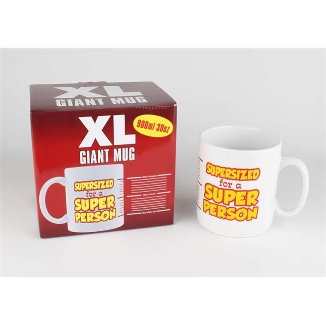 Novelty Glassware FFCM001 XL Giant Coffee Mug by Novelty Glassware
