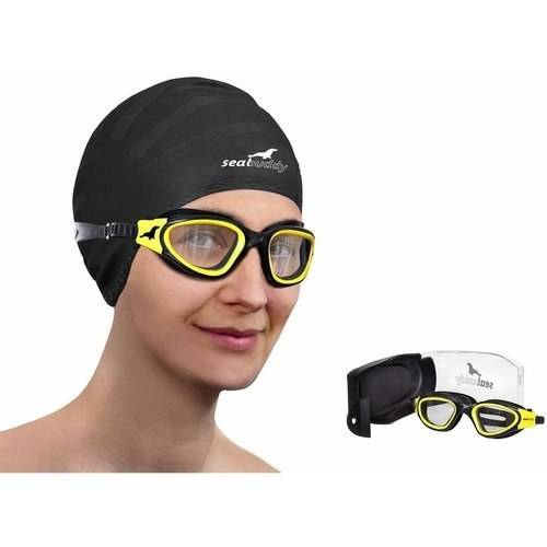 SealBuddy PV10 Swimming Goggles Panoramic View Anti-fog and Scratch Resistant Lens with Case