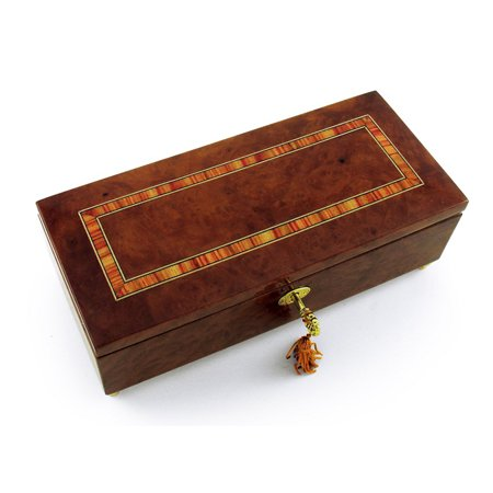 Lavish Hand Made Classic Style Music Jewelry Box With Lock And Key - Speak Softly Love (The Godfather Theme)
