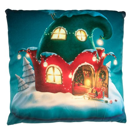 Christmas Pillows, Decorative Pillows, Throw Pillows, Light Up Pillow with Battery Operated LED Christmas Lights for Christmas Decorations, Home Decor, Gift