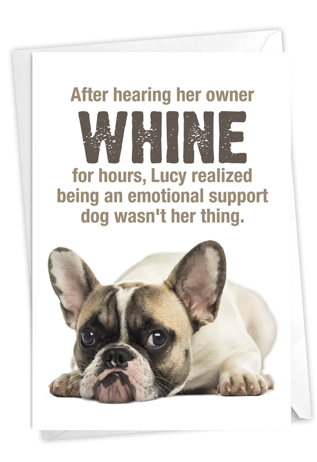 funny dog birthday card with envelope  pet pug humor