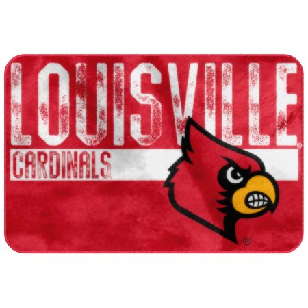 Louisville Football Rug - Louisville Cardinals The Northwest Company 20'' x 30'' Wornout Foam Mat - No Size