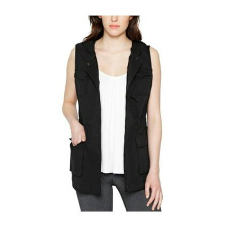 Matty M. Womens Size Small Cargo Vest w/Hood, Black