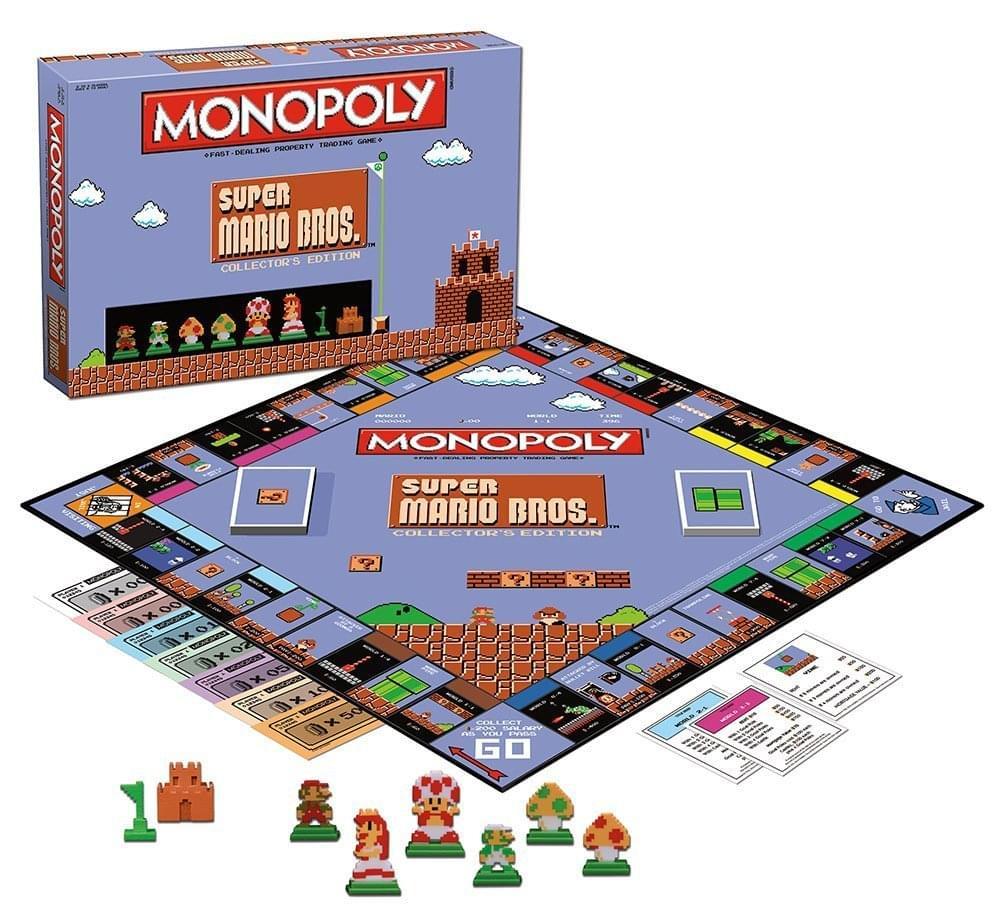 Super Mario Bros Monopoly Collector S Edition Board Game Walmart