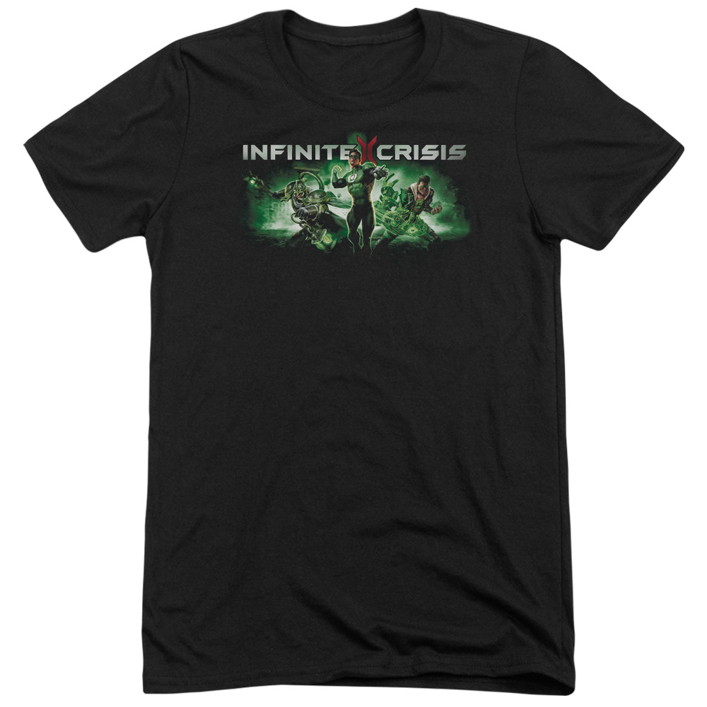 Infinite Crisis Ic Green Mens Tri-Blend Short Sleeve Shirt