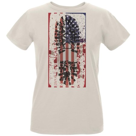 American Work Force Union Natural Womens Organic T-Shirt (Party America Union City)