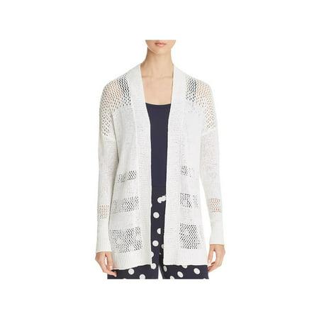 (Three Dots Womens Open Stitch Casual Cardigan Sweater)