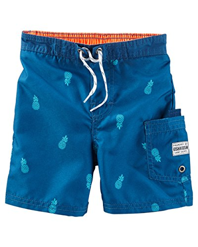 OshKosh B'gosh Little Boys' Pineapple Print Swim Trunks, 5 Kids