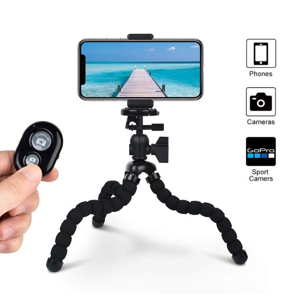 Mini Tripod Best Mini Flexible Tripod With Remote Shutter And Universal Clip For Smart Phone And Sports Gopro Great For Fitness Gym Videos And Selfies Guaranteed Selfie Stick Phone Tripod Walmart Com
