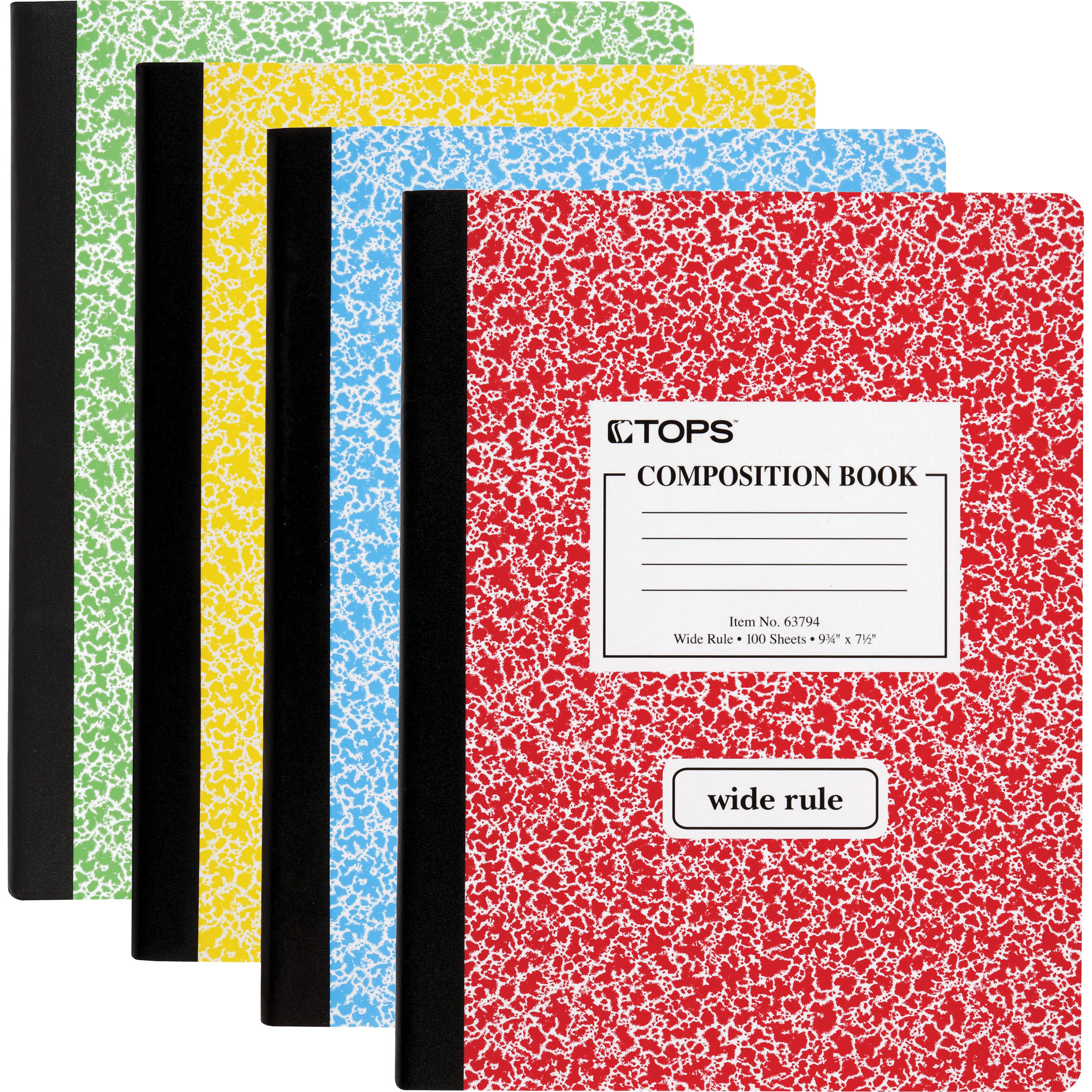 Oxford Composition Notebooks Wide Ruled Paper 63794 Colors May Vary 12 per Pack 100 Sheets Assorted Marble Covers 9-3//4 x 7-1//2