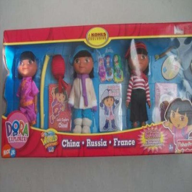 Mattel Dora the Explorer Set of 3 World Adventure Collect...