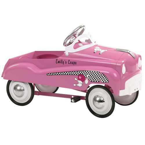 InStep Steel Retro Pedal Car Ride-on Toy, Pink