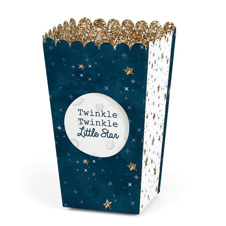 Twinkle Little Star - Baby Shower or Birthday Party Favor Popcorn Treat Boxes - Set of - Popcorn Boxes Baby Shower