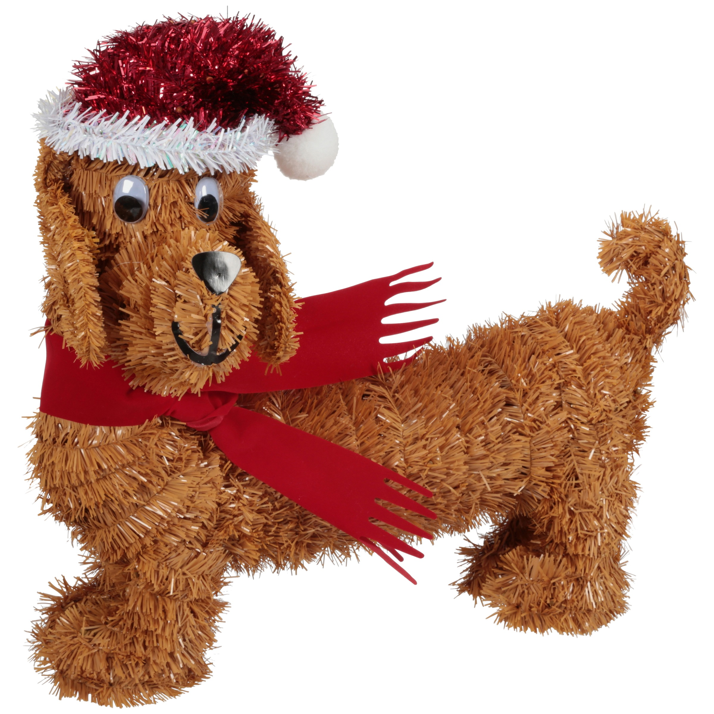 Holiday Time Tinsel Décor 3D Dog Decoration