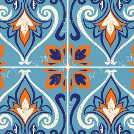 Moroccan Party (The Party Aisle Moroccan Tile 6'' Napkin (Set of)