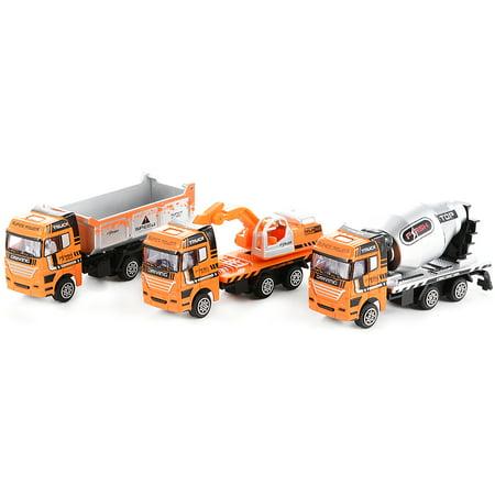 3PCS Diecast Metal Car Models Play Set Builders Construction Trucks Vehicle Playset - image 2 of 6