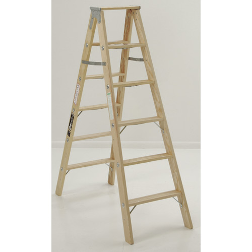 Michigan Ladder 4 13 Ft Wood Step Ladder With 300 Lb Load