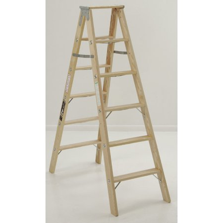 Michigan Ladder 4.13 ft Wood Step Ladder with 300 lb. Load Capacity